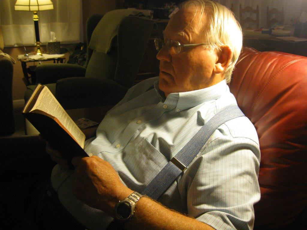 Tater Reading His Bible in 2014