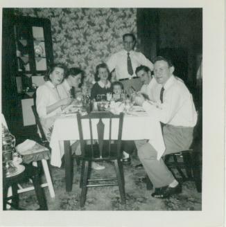 Dinner with Rev. Davis & Family